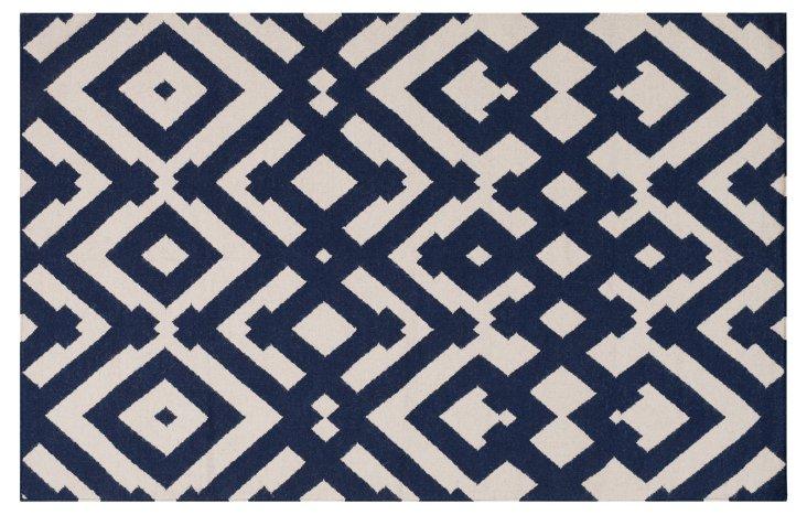 Maradi Flat-Weave Rug, Blue