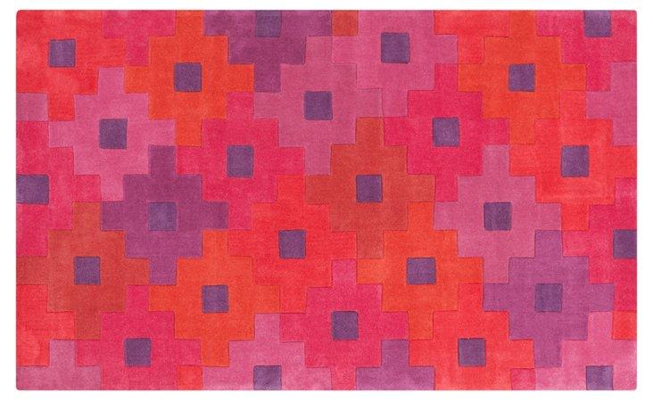 Koyla Rug, Pink/Violet