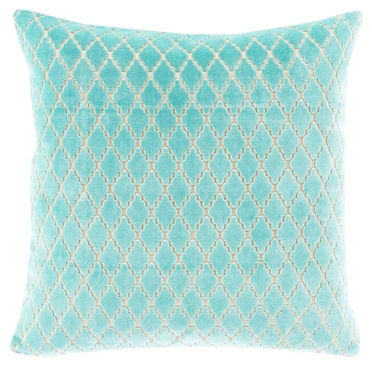 Plush 20x20 Cotton-Blended Pillow, Mint