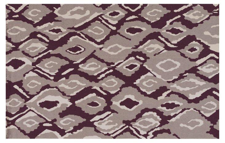 Calaveras Flat-Weave Rug, Violet