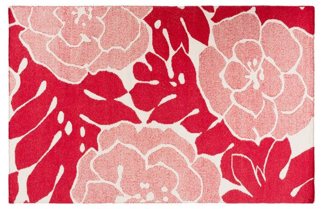 Franklin Flat-Weave Rug, Red