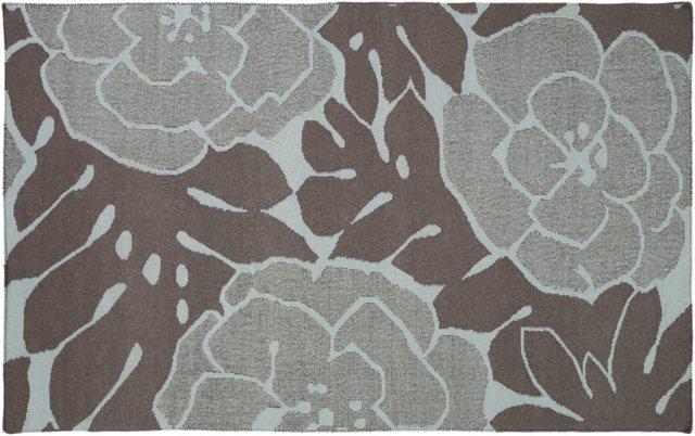 5'x8' Franklin Flat-Weave Rug, Blue