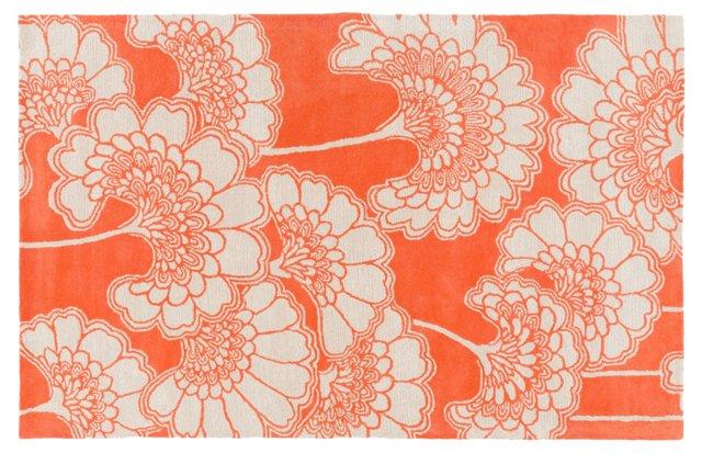 Hearts  Rug, Neutral/Orange