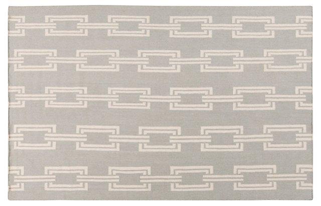 Elphenta Flat-Weave Rug, Gray