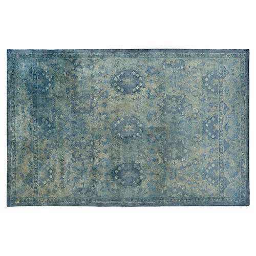 Vialas Rug, Green/Blue