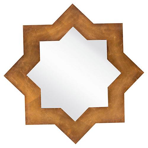 Arabesque Star Mirror, Gold