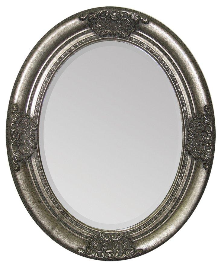 Faye Wall Mirror, Silver