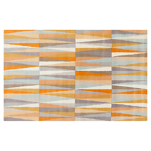 Laveine Rug, Orange/Blue