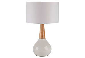 Walker Table Lamp, Dark Wood*