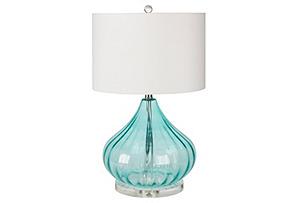 Pollux Table Lamp, Aqua*