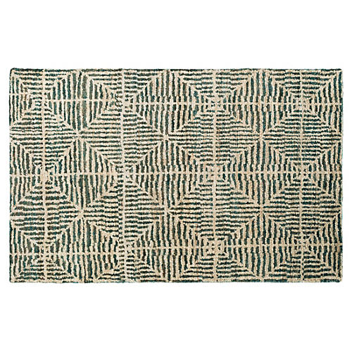 Burcet Hemp Rug, Forest