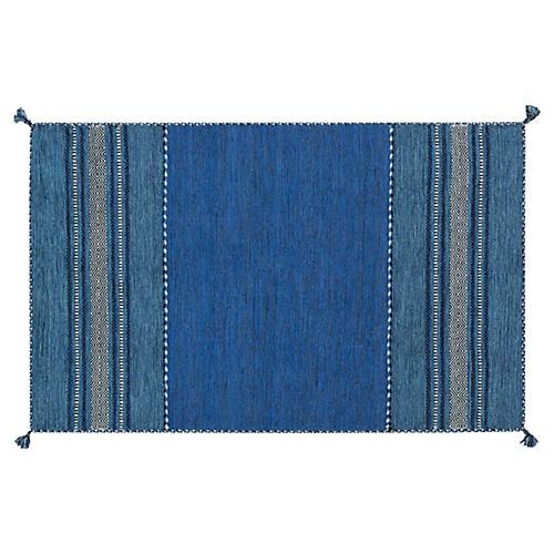 Jalo Flat-Weave Rug, Blue