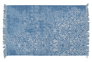 Petra Flat-Weave Rug, Cobalt