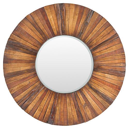 "Lisa 36"" Wall Mirror, Brown"