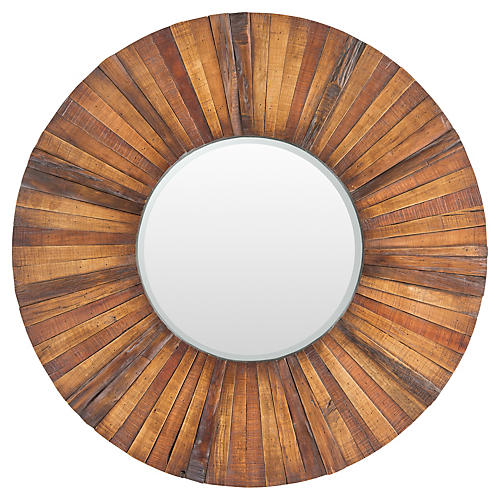 "Lisa 36"" Wall Mirror, Brown"