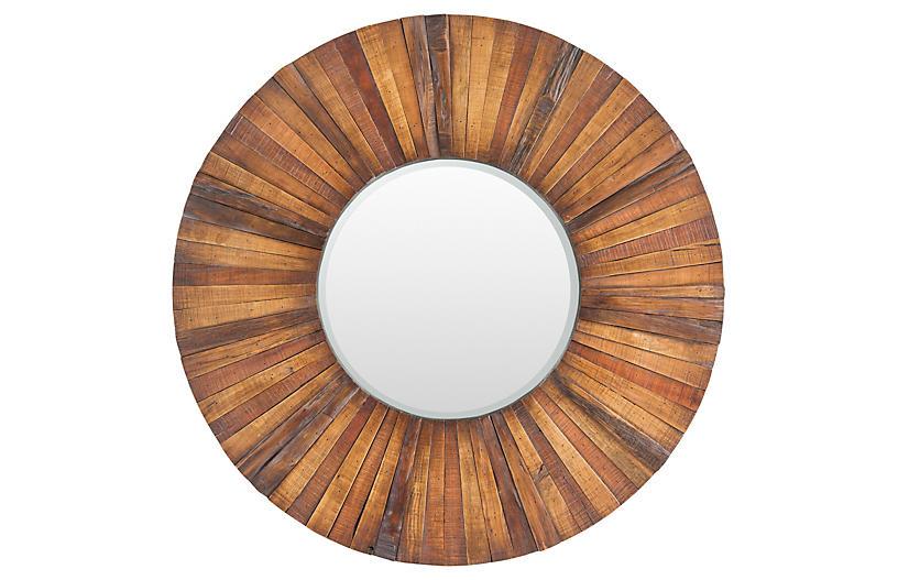 Lisa Wall Mirror, Brown