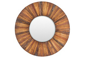Lisa Wall Mirror, Brown*