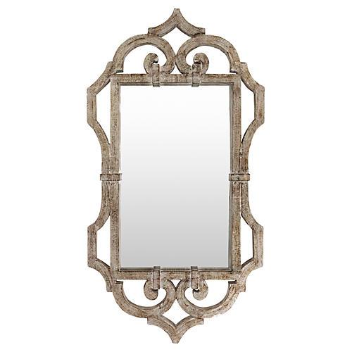 """Marjorie 21""""x39"""" Wall Mirror, Silver"""