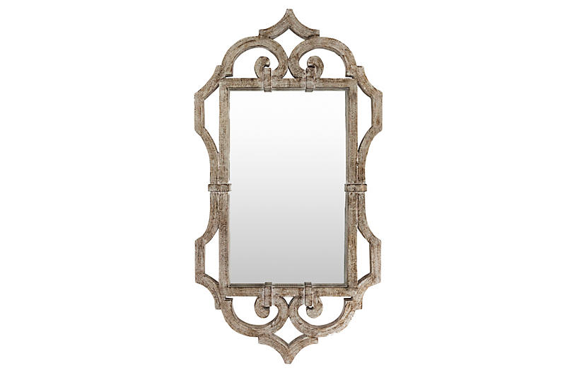 Marjorie Wall Mirror, Silver