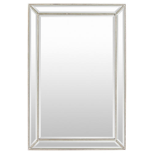 Beveled Glass Mirror, Silver