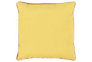 Bahari 16x16 Outdoor Pillow, Yellow*