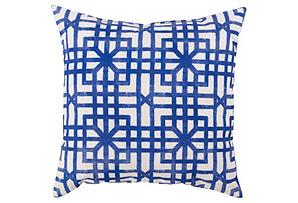 Geometric 18x18 Outdoor Pillow, Iris*