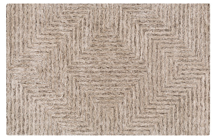 Coquille Rug, Taupe/Charcoal