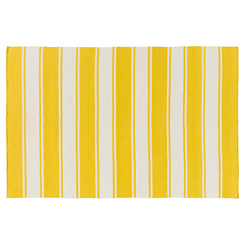 Macleay Outdoor Rug, Gold/Ivory