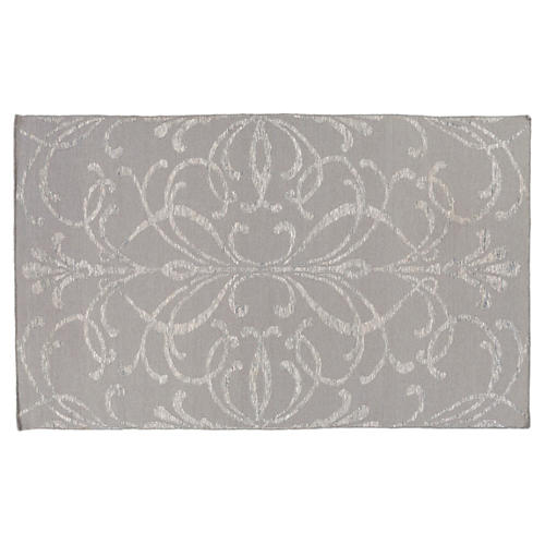 Wolcott Rug, Light Gray/Ivory