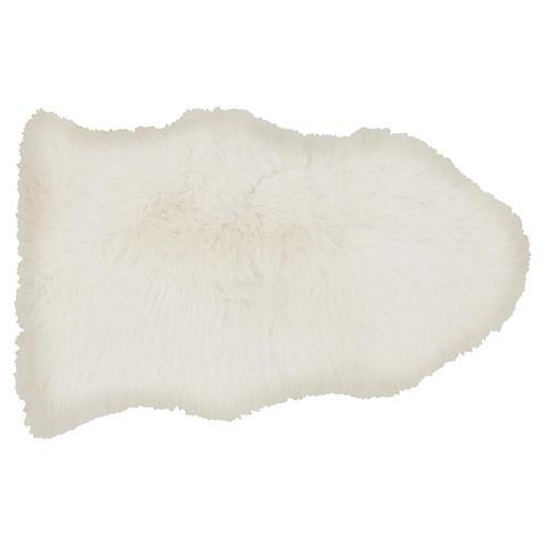 2'x3' Sheepskin Rug, Ivory