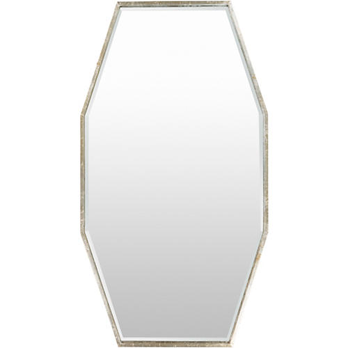 """Rory 60""""x35"""" Wall Mirror, Silver"""