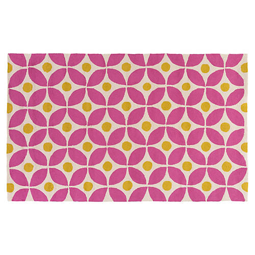 Hendry Outdoor Rug, Bright Pink