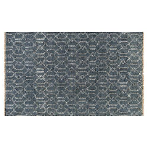 Hanke Rug, Charcoal/Ivory