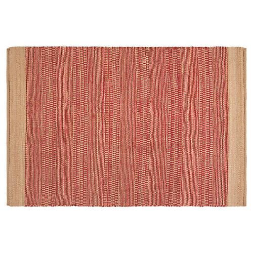 Bianca Jute-Blend Rug, Red/Khaki