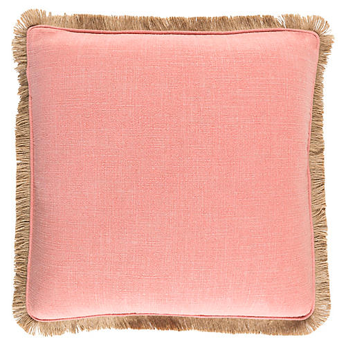 Ellery Pillow, Coral/Tan