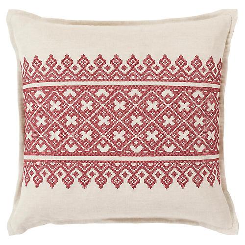Pentas Decorative Pillow, Rust/Khaki