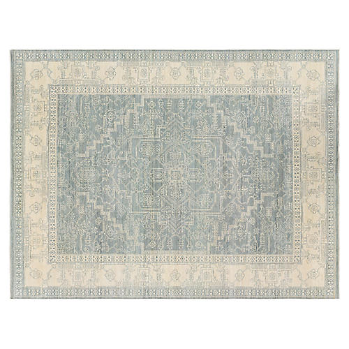 Mercury Rug, Teal/Multi