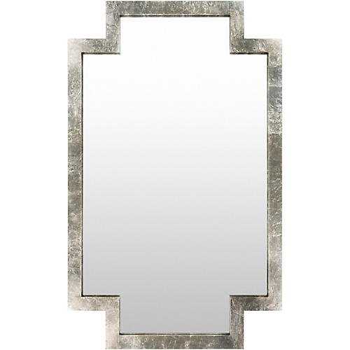 """Dayton 40""""x65"""" Wall Mirror, Silver"""