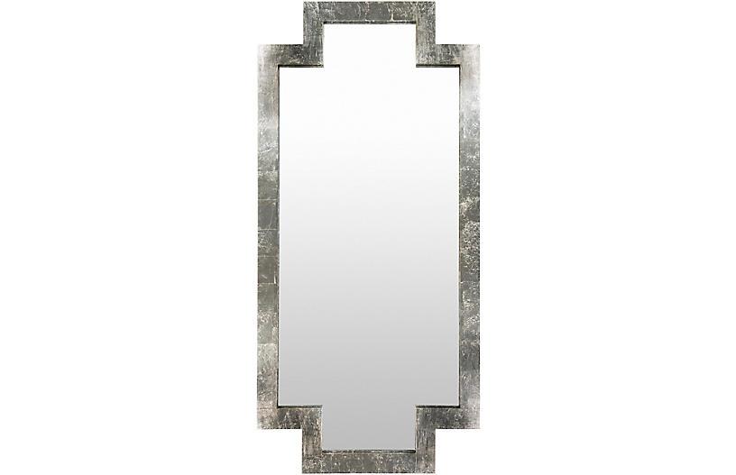 Dayton Floor Mirror, Silver