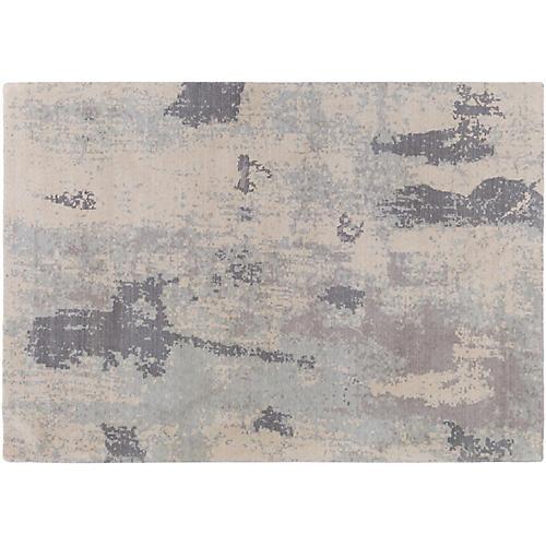 Austin Rug, Khaki/Pale Blue