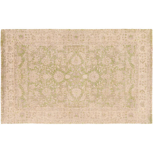 Avocet Rug, Cream/Lime