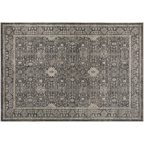 Acamar Rug, Neutral/Black