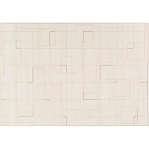 Arich Rug, White/Neutral