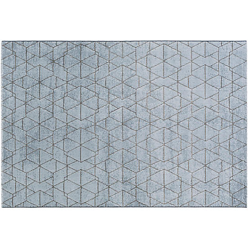 Biham Rug, Blue/Gray