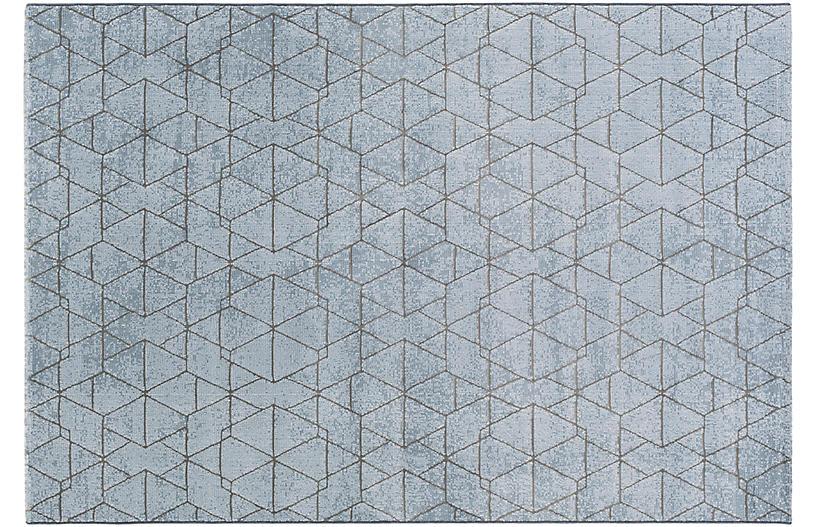 Biham Rug, Blue/Gray