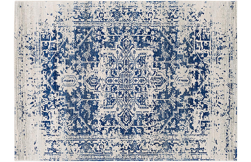 Corvi Rug, Neutral/Blue