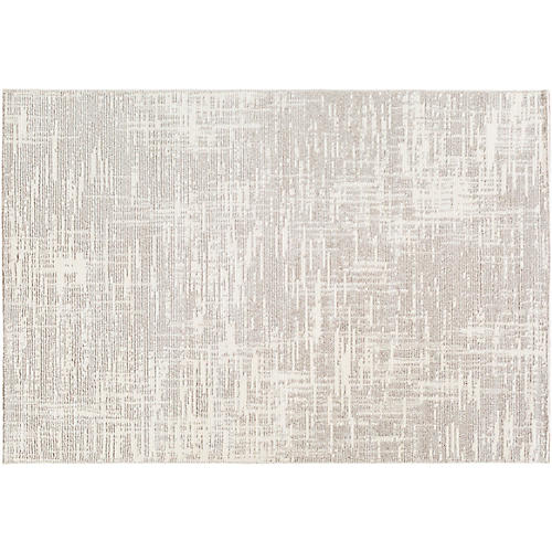 Sadr Rug, White/Gray