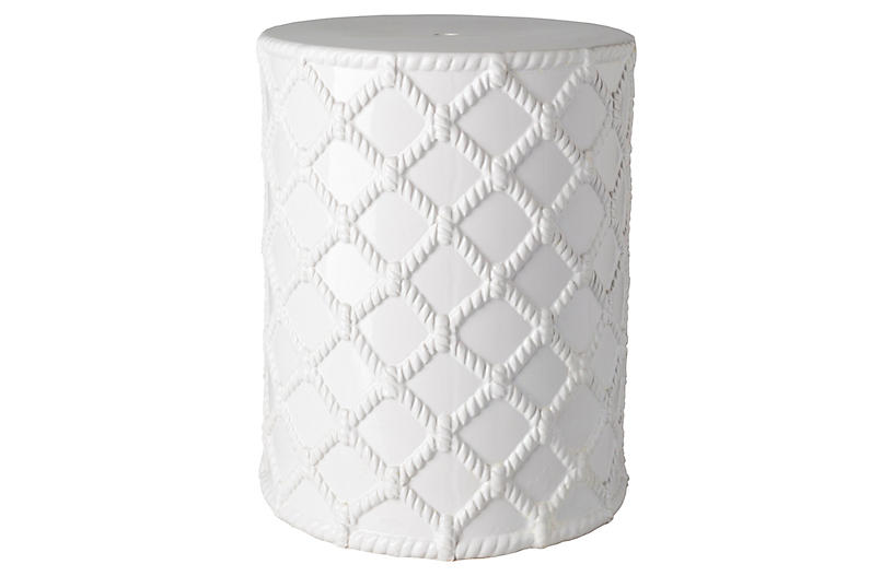 Gaylor Outdoor Stool, White