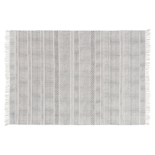 Yadiel Rug, Medium Gray/Ivory