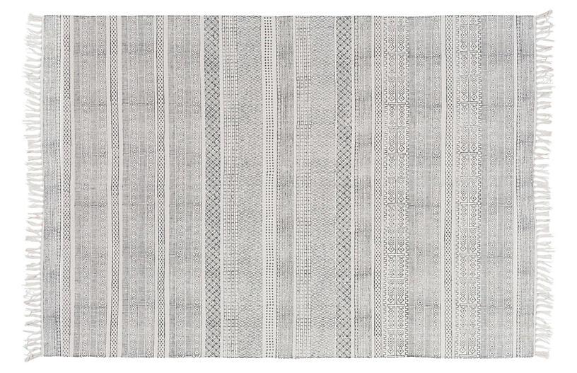 Yadiel Rug, Medium Gray/Ivory